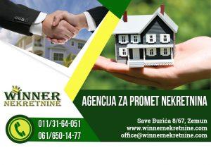 Batajnica, Zemun, stan, prodaja, nekretnina, uknjizen, duplex, centralno grejanje, troiposoban, prodaja stanova, winner nekretnine