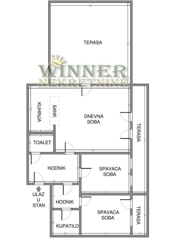 Stan Novogradnja Blok 61 uknjizeno useljivo prodaja stanova trosoban stanovi stan kvalitetna novogdnja nekretine winner nekretnine