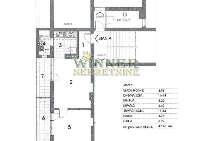 Stan u Centru Zemuna 47m2 1.5 novogradnja