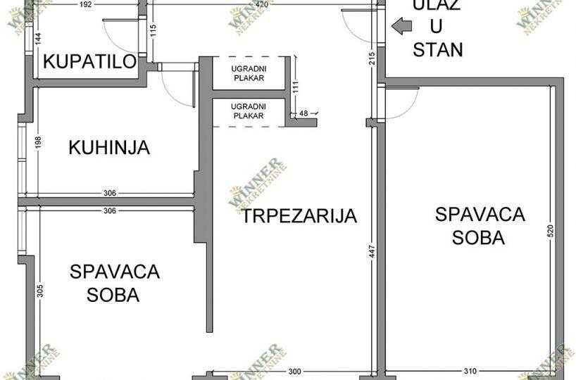 Prodaja Stan Zemun Centar, Glavna, uknjizen 57m2, dvoiposoban, dvostrano orjentisan, parking u dvoristu, podrum 4m2, polurenoviran