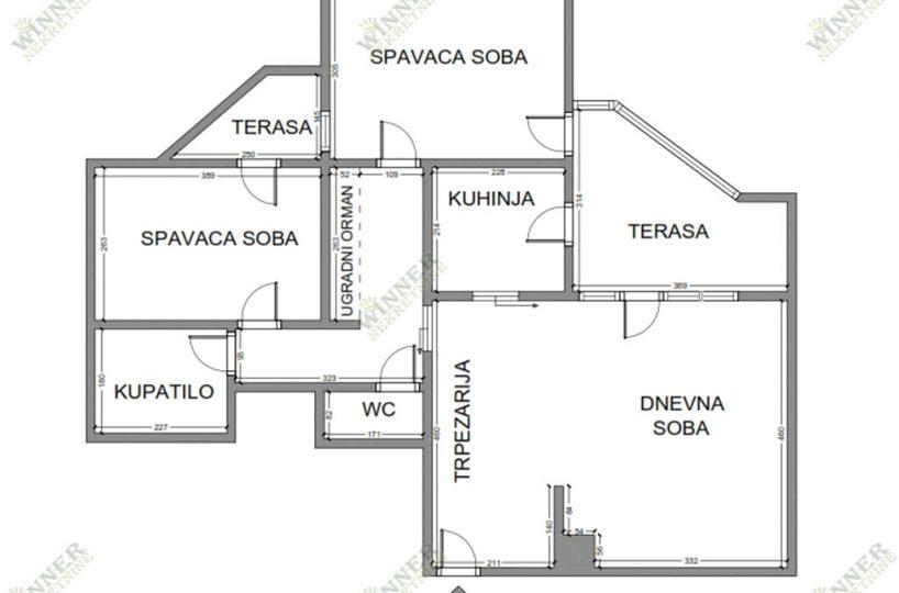 Prodaja Stan trosoban Prvomajska, naselje Sava Kovacevic, centralno grejanje, topla voda, podrum, agencija winner nekretnine