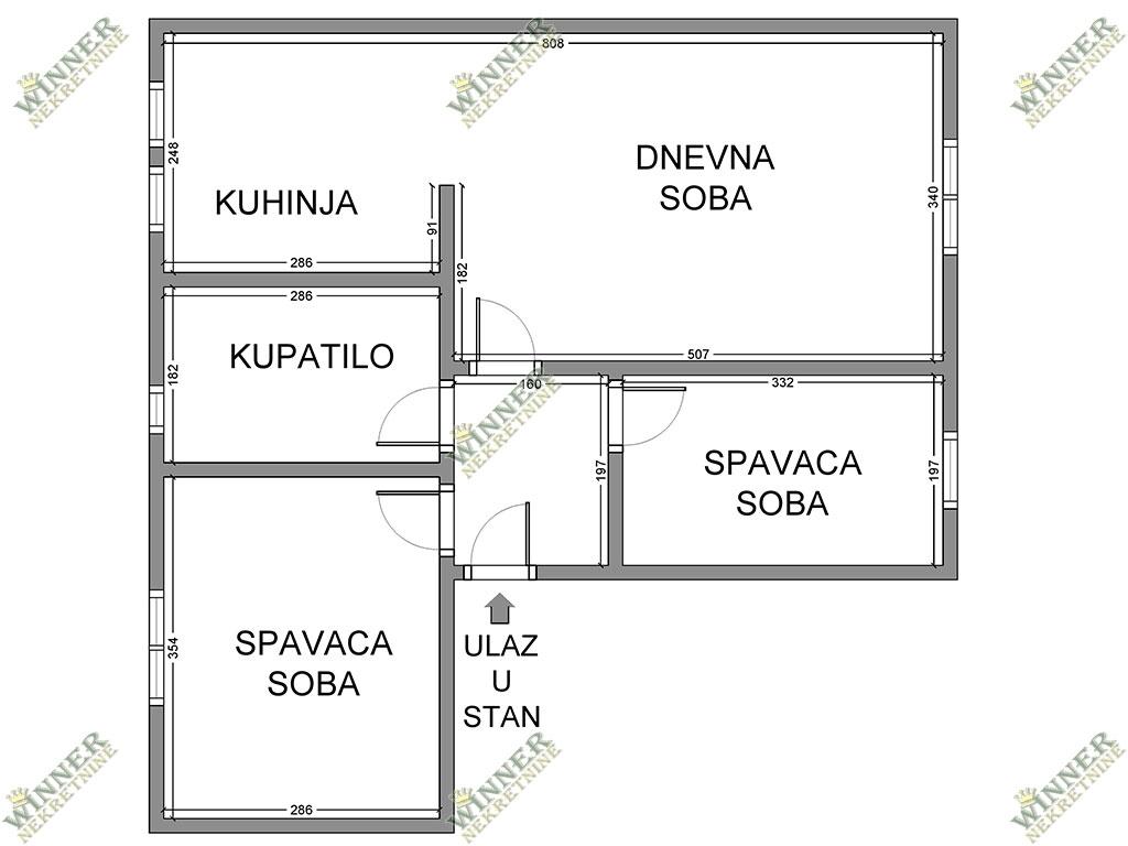 Prodaja Novogradnja Zemun dvoiposoban, Sava Kovacevic, uknjizeno, novogradnja, centralno grejanje, winner nekretnine, agencija